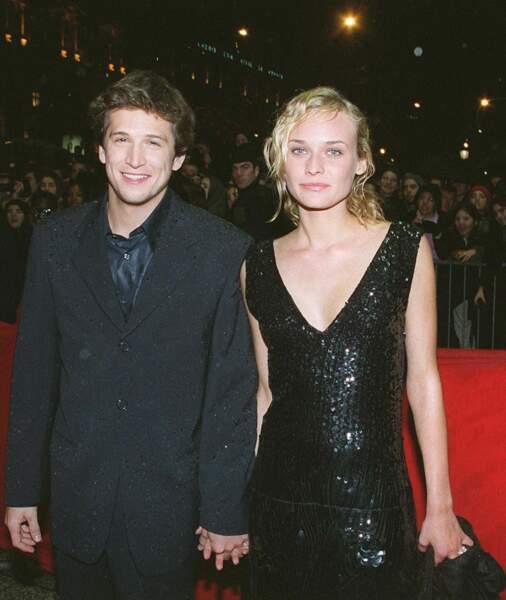 Diane Kruger et Guillaume Canet en février 2000 à Cannes