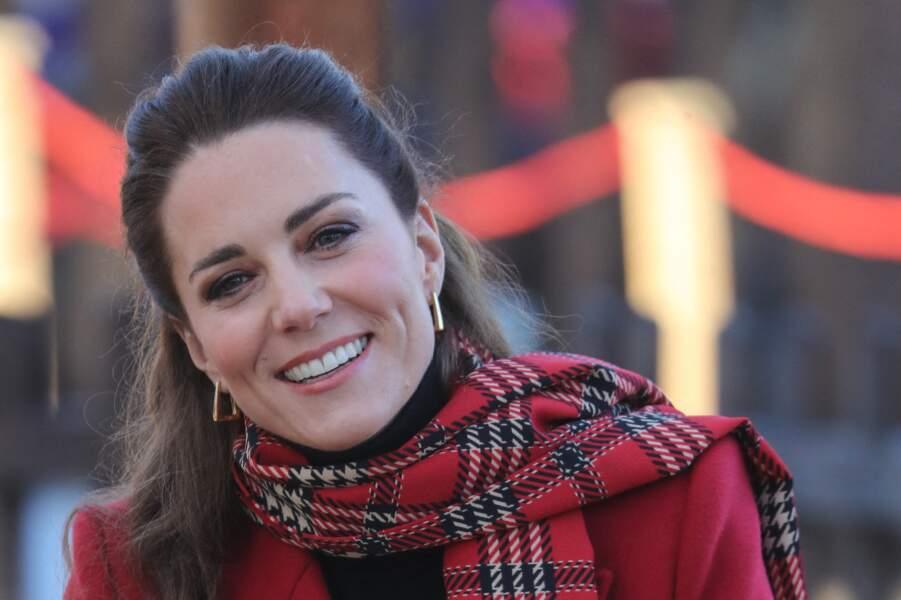 Kate Middleton, lors d'une visite du château de Cardiff, le 9 décembre 2020.