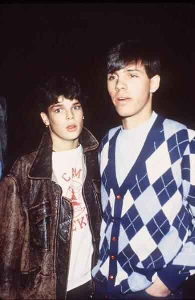 Stéphanie de Monaco et Paul Belmondo, en décembre 1980