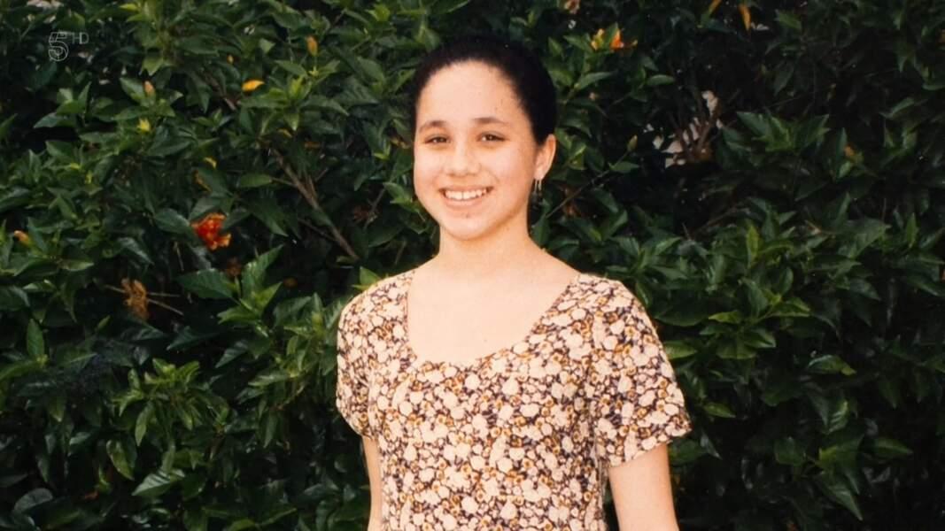 Meghan Markle, sur une photo d'elle plus jeune, dévoilée par son père, Thomas Markle, lors de la diffusion d'un documentaire sur Channel 5, en janvier 2020.