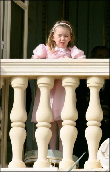 Alexandra de Hanovre, lors de la fête nationale monégasque en 2004. Elle a 5 ans.