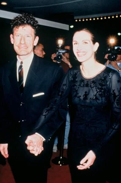Julia Roberts et Lyle Lovett en novembre 1997