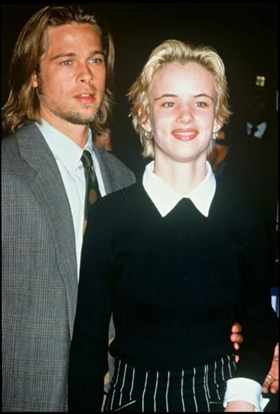 Brad Pitt et Juliette Lewis en janvier 1992