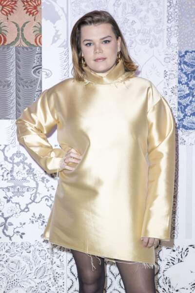 """Camille Gottlieb, lors du défilé de mode prêt-à-porter """"Alter"""" automne-hiver 2020/2021, à Paris, le 25 février 2020."""