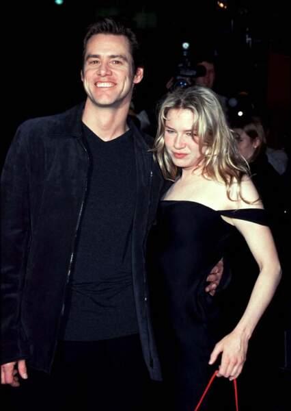 Renee Zellweger et Jim Carrey en décembre 1999