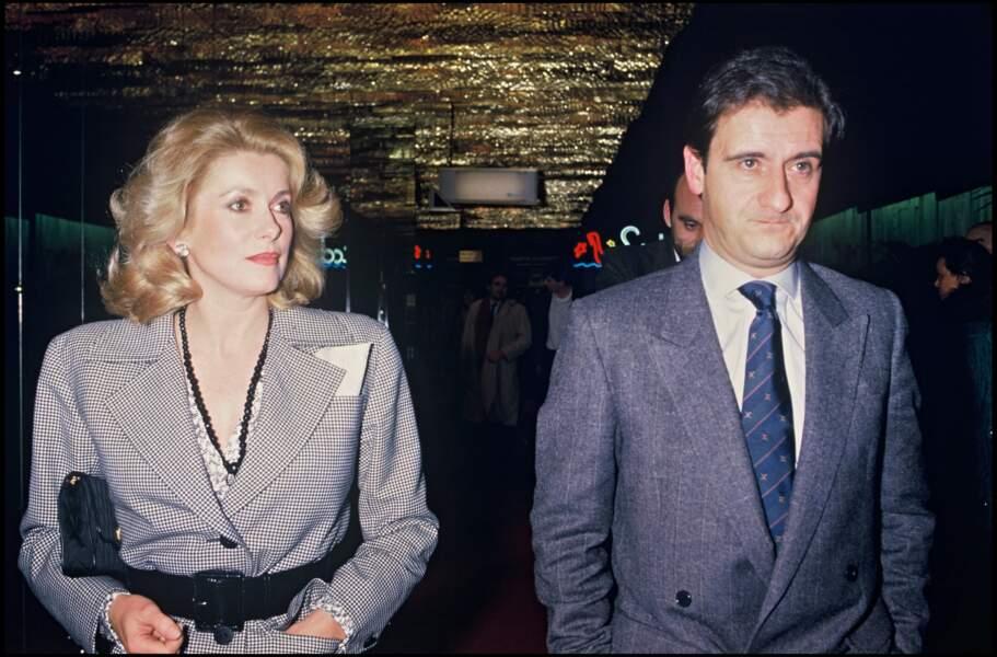 Catherine Deneuve et Pierre Lescure en mars 1985