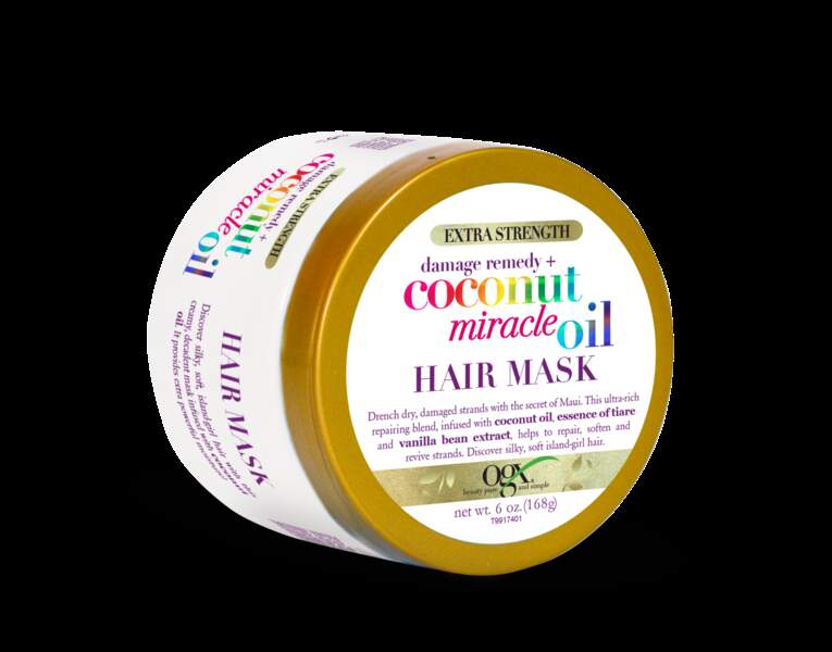 Coconut Miracle Oil Hair Mask de Ogx, 11,70 € les168g disponible chez Monoprix