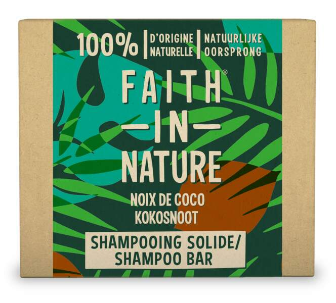 Noix de coco Shampooing Solide de Faith in Nature, 5,24 €