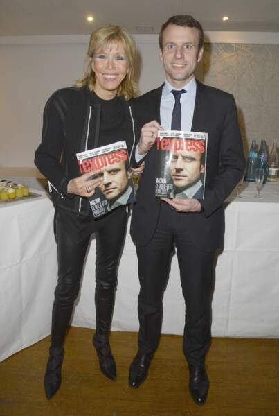 Brigitte Macron, fan des slim en cuir, ici le 8 mars 2016.