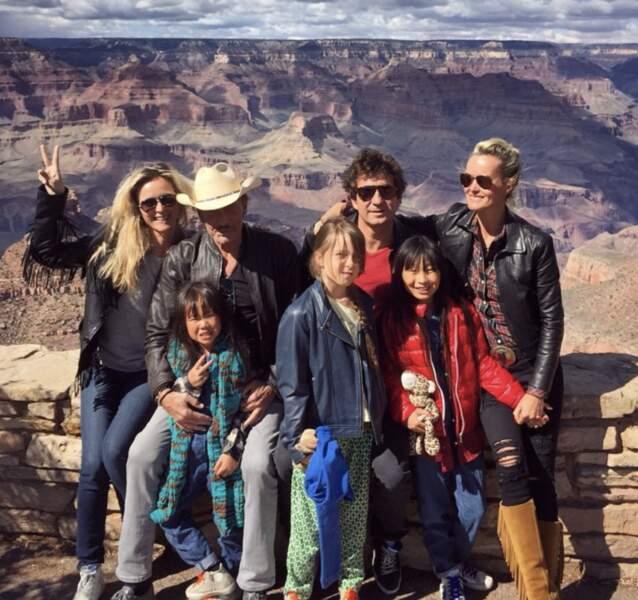La famille Hallyday au grand complet en mai 2015.