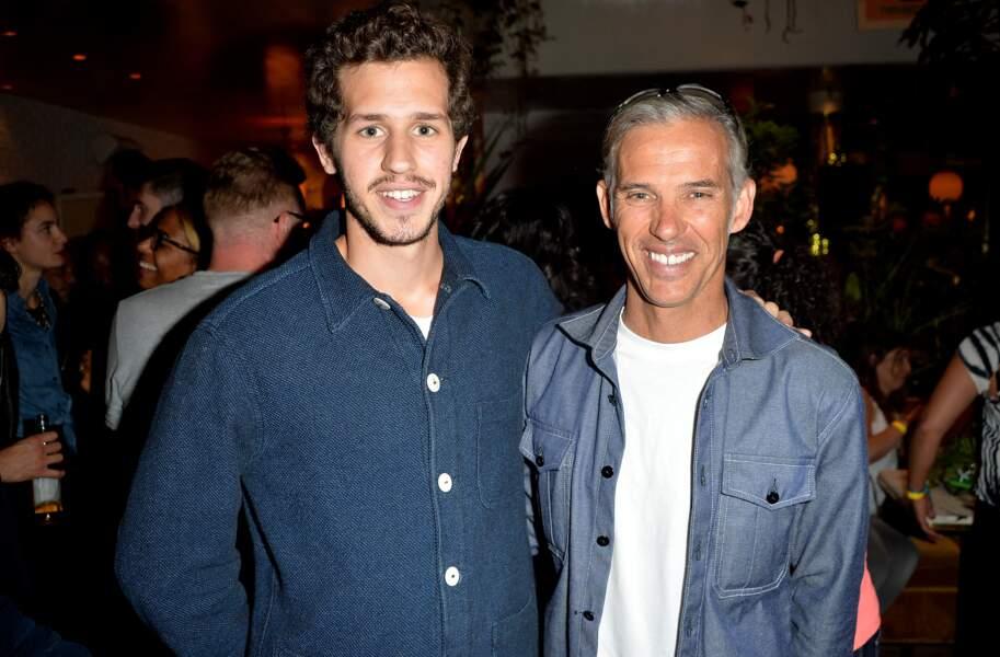 Paul Belmondo et son fils Victor Belmondo à Paris le 28 juin 2017