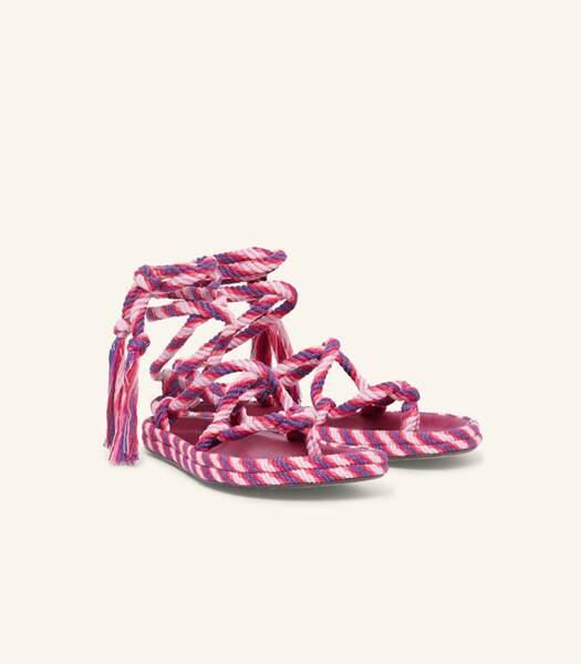 """Sandales en cordes multicolores """"Erol"""", Isabel Marant, 390 euros."""