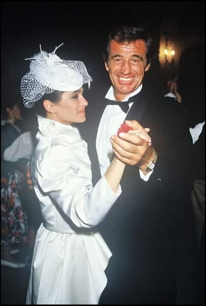 Jean-Paul Belmondo au mariage de sa fille Patricia Belmondo le 3 mai 1986