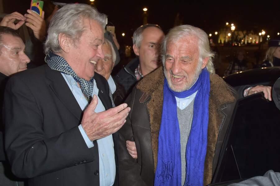 Alain Delon et Jean-Paul Belmondo  le 17 novembre 2017 à Paris