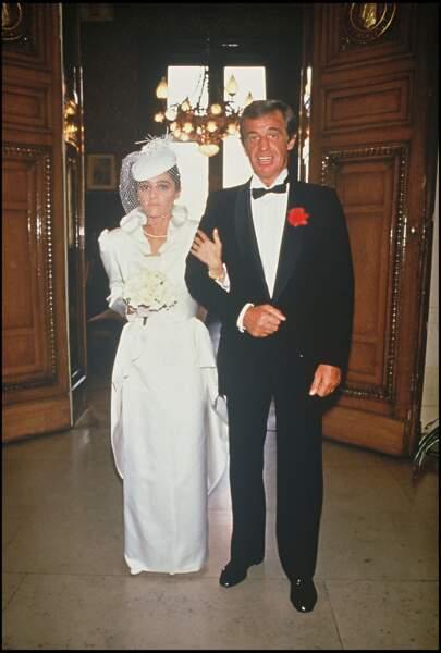 Jean-Paul Belmondo et sa fille Patricia le 3 mai 1986