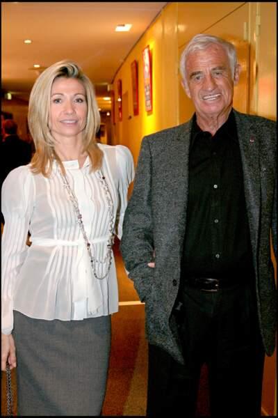 Jean-Paul Belmondo et Natty Tardivel à Paris le 17 octobre 2007