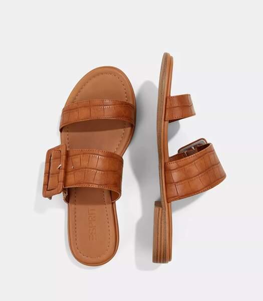 Sandales caramel, Esprit, 39,99 euros.