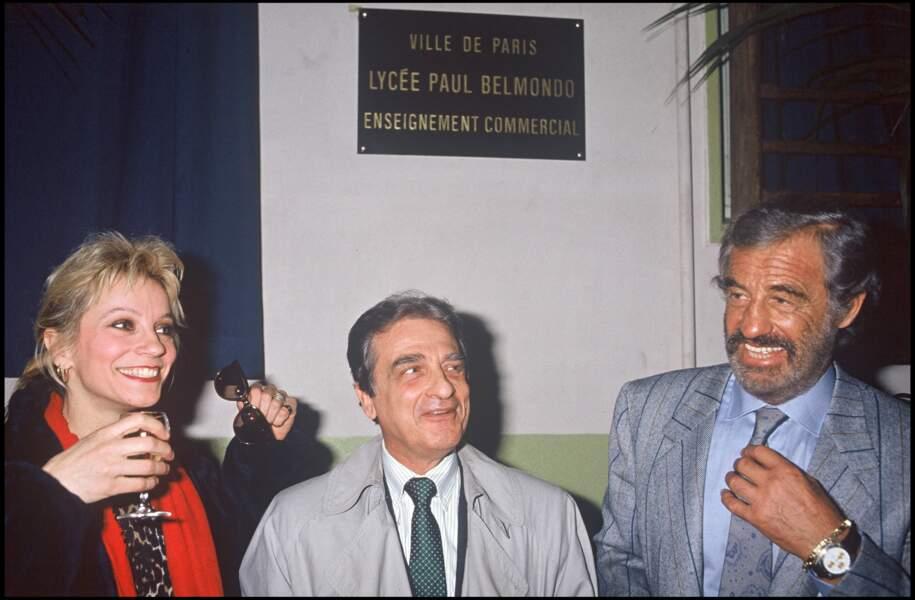 Jean-Paul, Alain et Muriel Belmondo le 12 mars 1983 à Paris