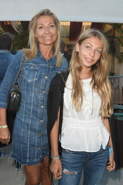 Natty Tardivel et sa fille Stella à Paris le 22 juin 2018