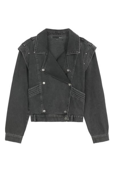 Blouse en jean avec épaulettes, 59,99€, Etam
