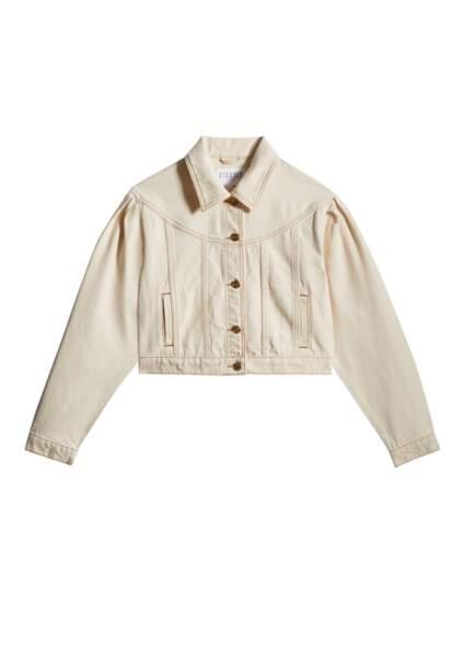 Veste en jean courte éco-responsable 185€, Claudie Pierlot
