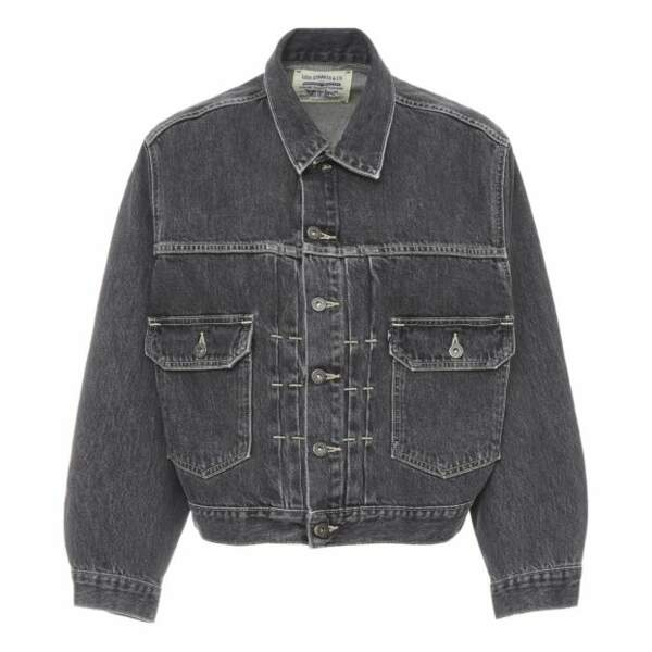 Veste en jean boxy type II Trucker noir, 150€, Levi's made & crafted sur Smallable