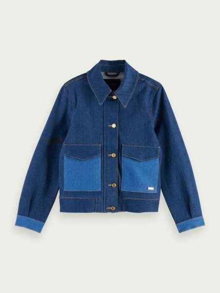 Veste en jean bicolore, dress for adventure, 189€, Scotch & Soda