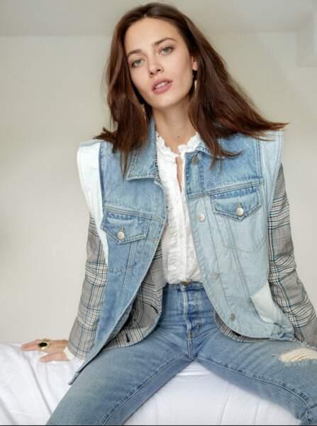 Veste en jean Verone, 225€, Berenice Paris