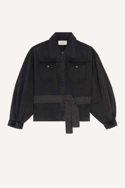 Veste en jean ceinturée jacky, 250€, Ba&sh