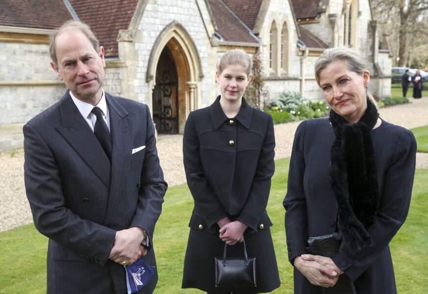 Le prince Edward, Lady Louise et Sophie de Wessex