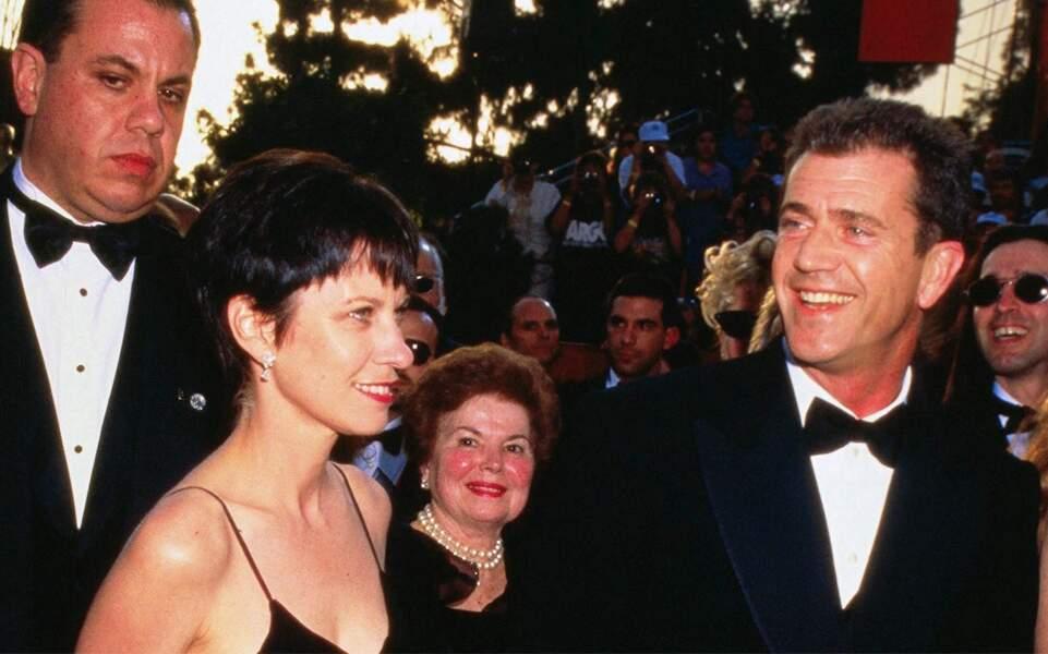 Mel Gibson et Robyn Moore à la 69e cérémonie des Oscars, le 24 mars 1997