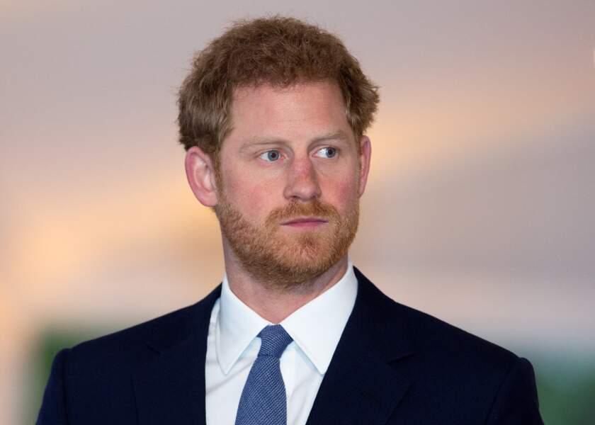 Le prince Harry, au palais Kensington à Londres, le 4 avril 2017