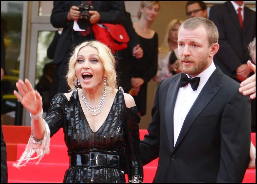 Madonna et Guy Ritchie lors du 61e festival de Cannes