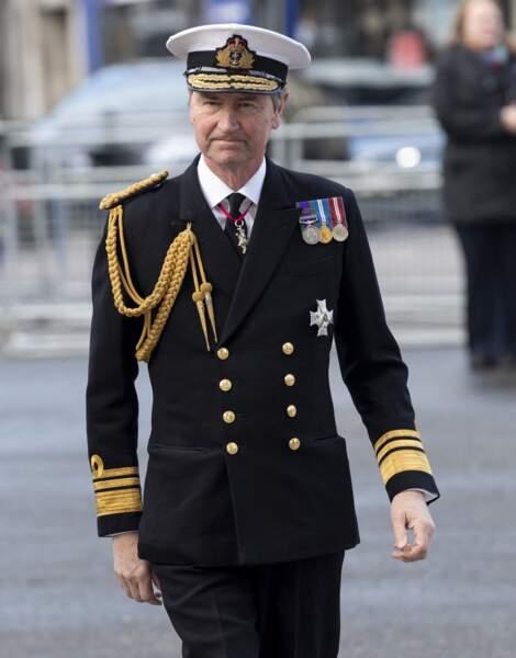 Timothy Laurence arrive en l'abbaye de Westminster à Londres, le 11 décembre 2019.