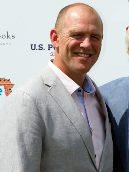 Mike Tindall à son arrivée au Royal Berkshire Polo Cup, le 26 juillet 2018