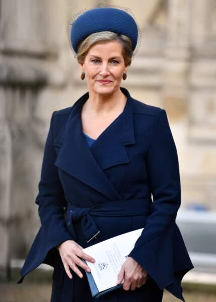La comtesse Sophie de Wessex en l'abbaye de Westminster à Londres, le 11 décembre 2019.