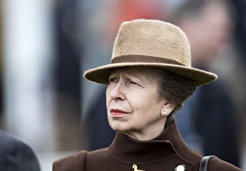 La princesse Anne d'Angleterre, le 11 mars 2020, à Cheltenham.