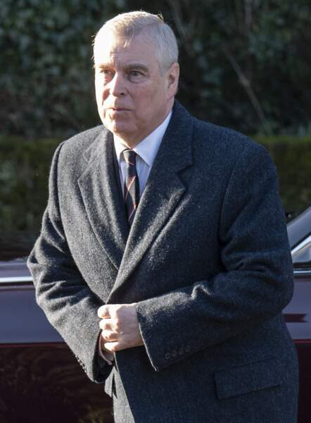 Le prince Andrew, arrive en l'église St Mary the Virgin à Hillington, le 19 janvier 2020.