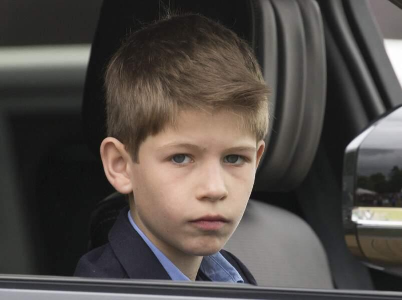 James Mountbatten-Windsor, vicomte Severn, fils cadet d'Edward et Sophie de Wessex, à Windsor, le 12 mai 2018.