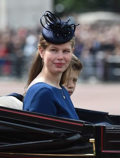 Lady Louise Mountbatten-Windsor, au palais de Buckingham, à Londres, le 8 juin 2019.