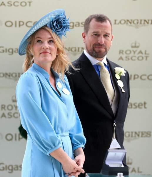 Peter Phillips, avec son ex-épouse Autumn, à Ascot en juin 2019.