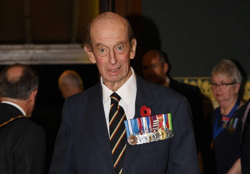 Edward de Kent,  au Royal Albert hall de Londres, le 11 novembre 2017.