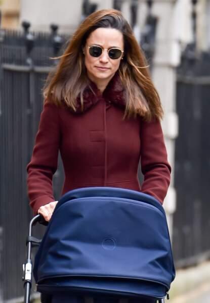 La sœur cadette de Kate Middleton n'est pas passée inaperçue à Londres, le 13 avril 2021