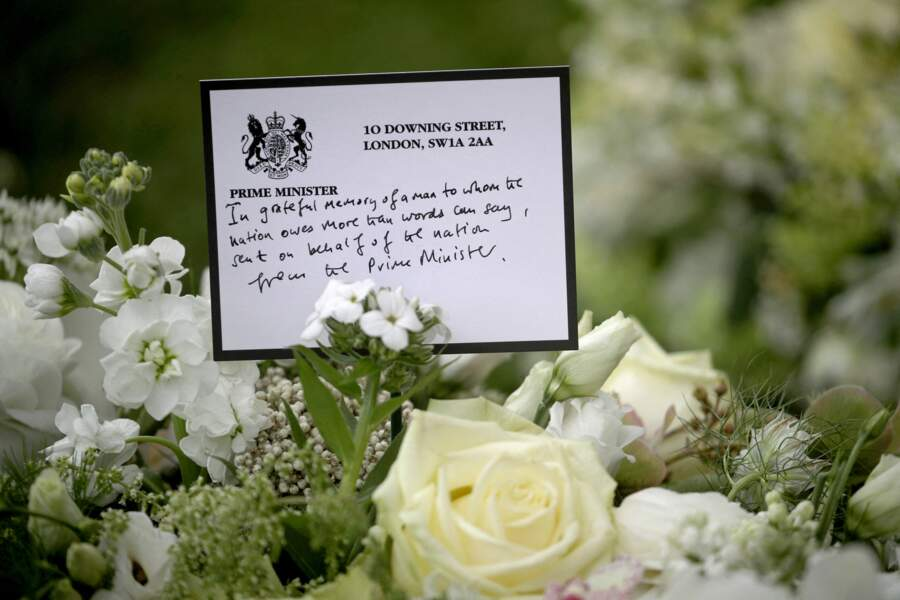 Un message envoyé par le Premier ministre Boris Johnson en hommage au prince Philip.