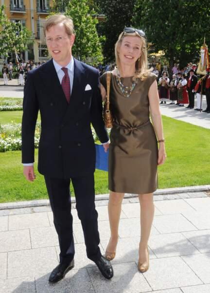 Le prince Bernard de Bade, ici avec son épouse la princesse Stephanie, à Baden-Baden, en Allemagne, le 11 mai 2012.