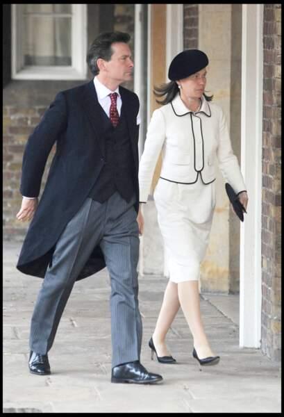 Lady Sarah et Daniel Chatto, au mariage de Lady Rose Windsor, à Londres, le 19 juillet 2008.