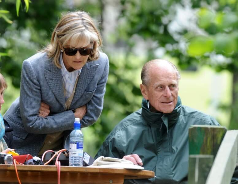 Lady Penelope, ici avec le prince Philip à Windsor, en 2010.