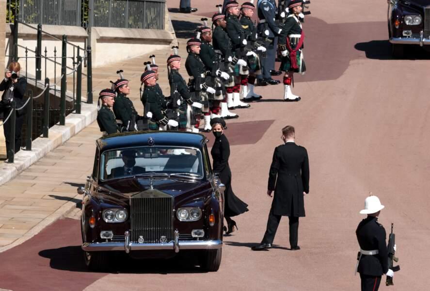 Sophie de Wessex arrive au château de Windsor seule ce samedi 17 avril 2021
