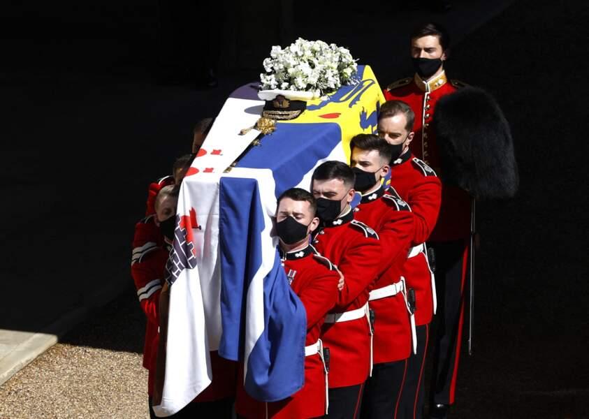 Le cercueil du prince Philip ce samedi 17 avril