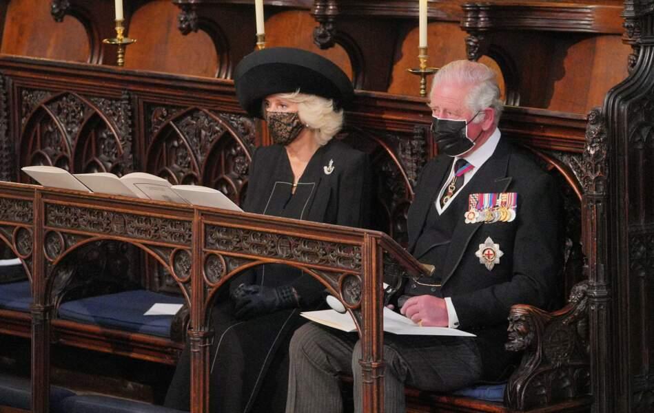 Camilla Parker Bowles et le prince Charles au sein de la chapelle Saint George du château de Windsor
